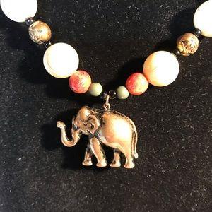 Jewelry - NWOT brass elephant necklace